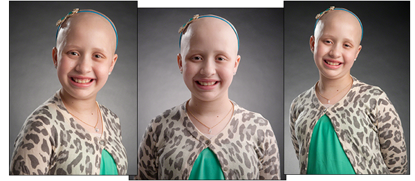 St. Jude Children's Research Hospital patient Aliana collage showing Aliana smiling