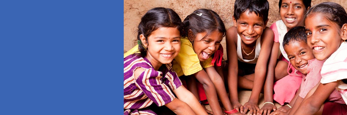 Make-A-Wish International banner ad featuring children from India smiling
